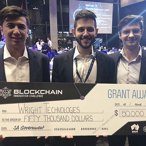 Wright Technologies win South Australia's Blockchain Innovation Challenge